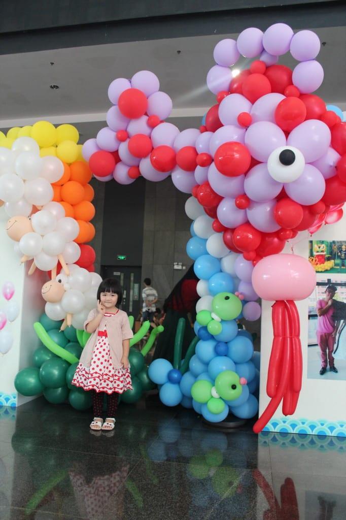 Balloon Backdrop Ocean Theme