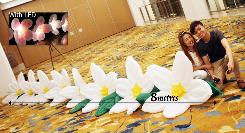 Inflatable flower walkway Singapore