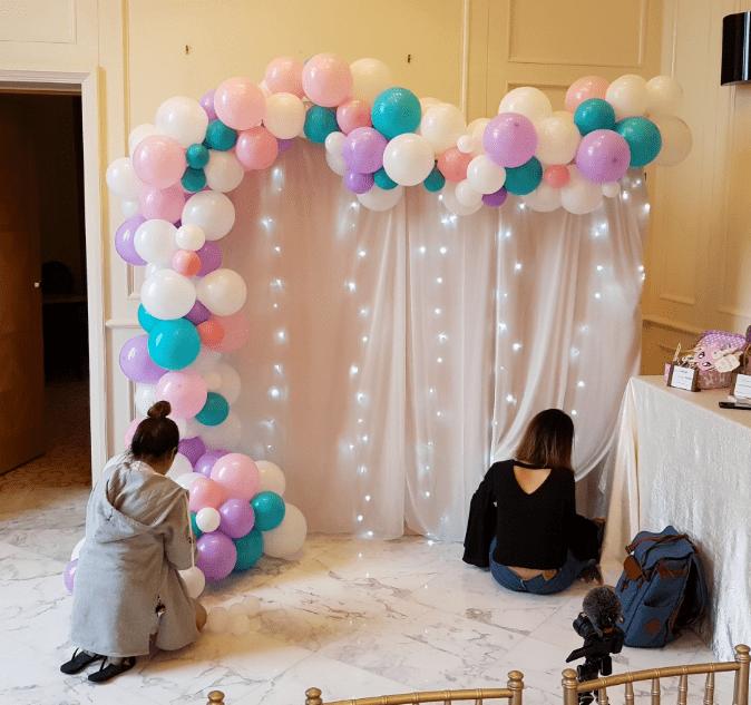 Organic Balloon Decorations Garland