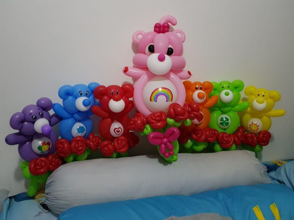 Care Bears Balloon sculptures for wedding