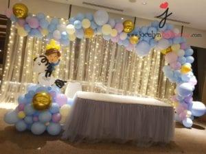 Pastel Blue Balloon Organic Garland Decoration