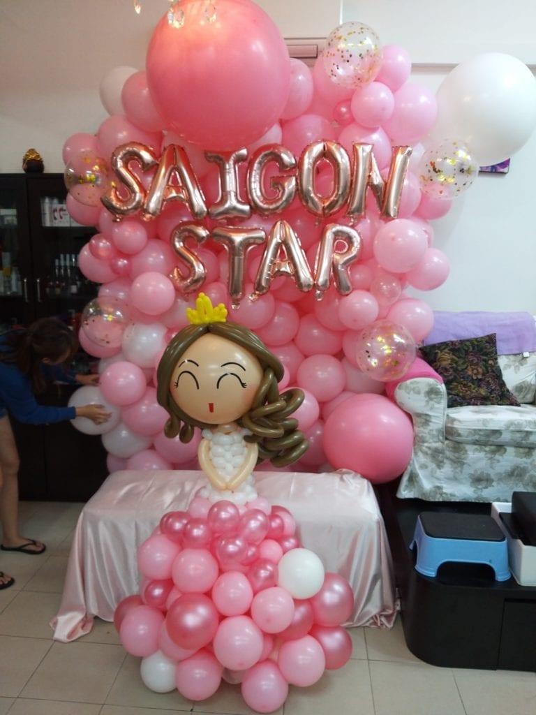 Balloon Backdrop Decoration @ Saigon Star