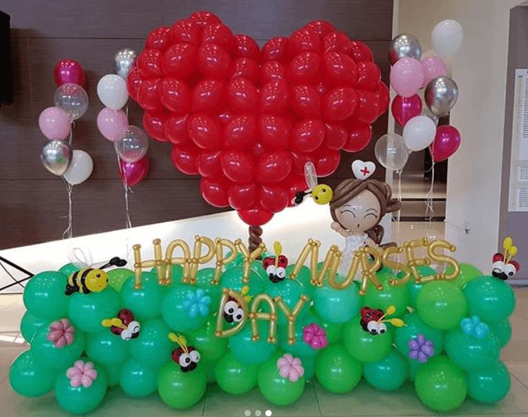 Nurse Day Balloon Heart Decorations