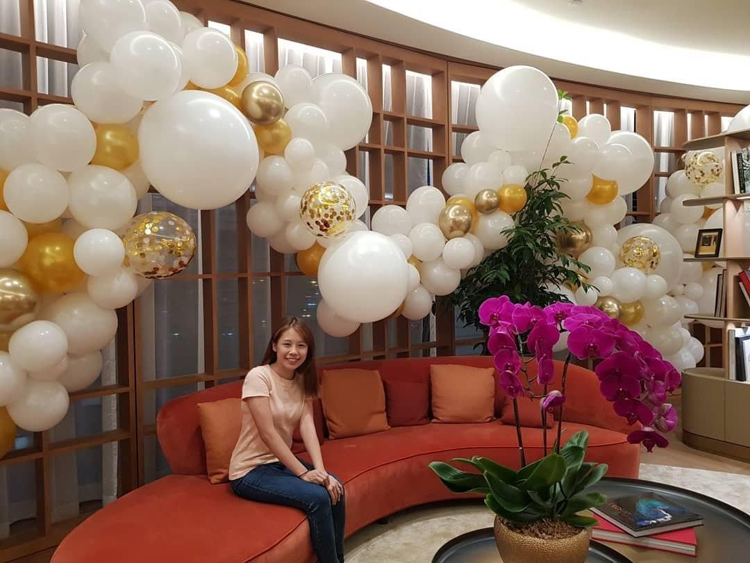Organic balloon Garland for Cartier Singapore